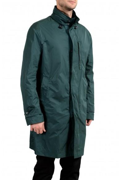 "Hugo Boss ""Clais"" Men's Green Full Zip Hooded Windbreaker Coat : Picture 2"