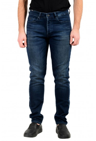 """Hugo Boss Men's """"Taber BC-P"""" Tapered Fit Blue Stretch Jeans"""