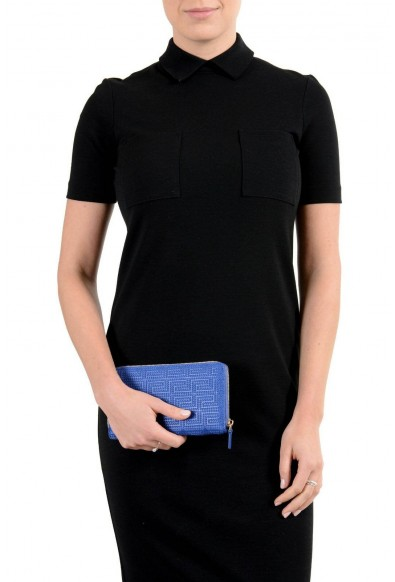 Versace 100% Leather Blue Women's Wallet: Picture 2