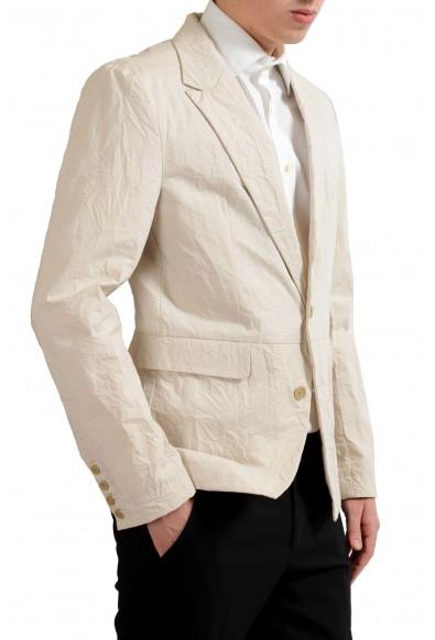 Dolce & Gabbana Men's Beige Creased Look Blazer Sport Coat: Picture 2