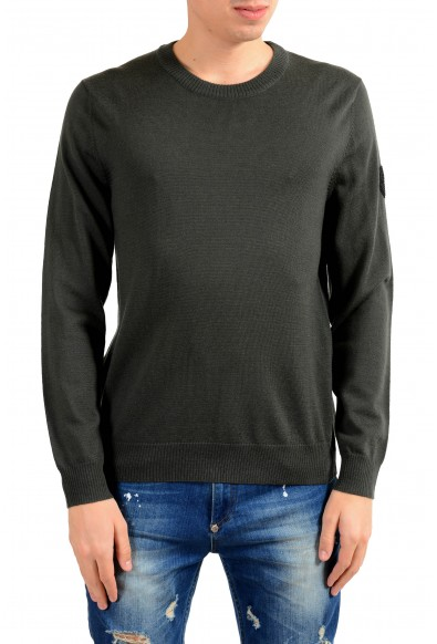 "Emporio Armani EA7 ""Ski"" Men's 100% Wool Green Crewneck Sweater"