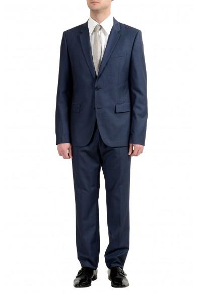 "Hugo Boss ""Aeron2/Hamen2"" Men's 100% Wool Blue Two Button Suit"