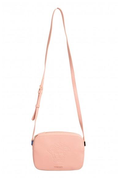 Versace Women's Pink Medusa Textured Leather Crossbody Bag