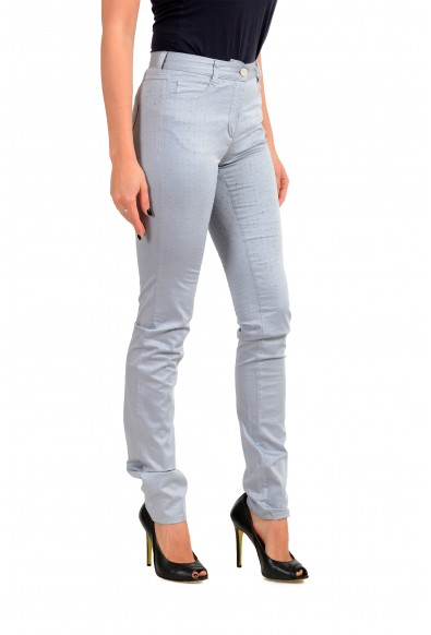 Maison Margiela MM6 Women's Gray Perforated Light Jeans: Picture 2