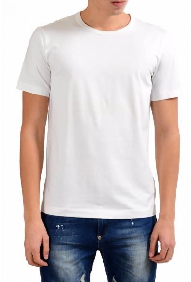Armani Collezioni Men's White Crewneck Print Short Sleeve T-Shirt