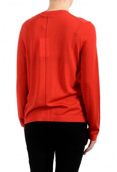 "Hugo Boss Women's ""Fuyuma"" Red 100% Wool Cardigan Sweater: Picture 2"