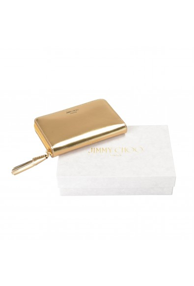 """Jimmy Choo Women's Gold Leather """"ATHINI"""" Zip Around Wallet: Picture 2"""