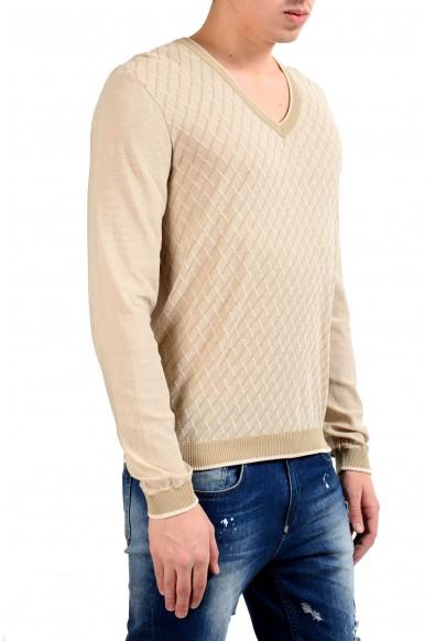 Malo Men's Jacquard V-Neck Pullover Light Sweater: Picture 2
