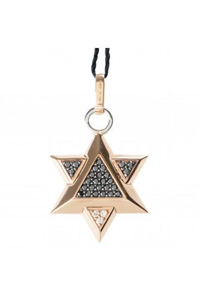 BARAKA Men's ST281151RODD000047 Rose Gold Diamonds Star Of David Pendant