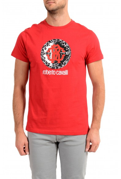 """Roberto Cavalli """"Beachwear"""" Men's Red Graphic Print T-Shirt"""