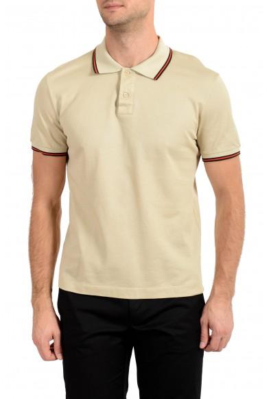 Malo Men's Beige Short Sleeve Polo Shirt