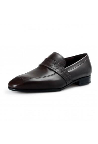 "Salvatore Ferragamo Men's ""Goliath"" Dark Brown Leather Slip On Loafers Shoes"