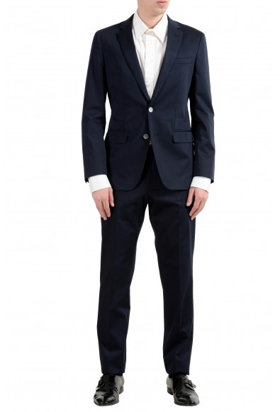 "Hugo Boss ""Helford/Gander3"" Men's Stretch Slim Dark Blue Two Button Suit"