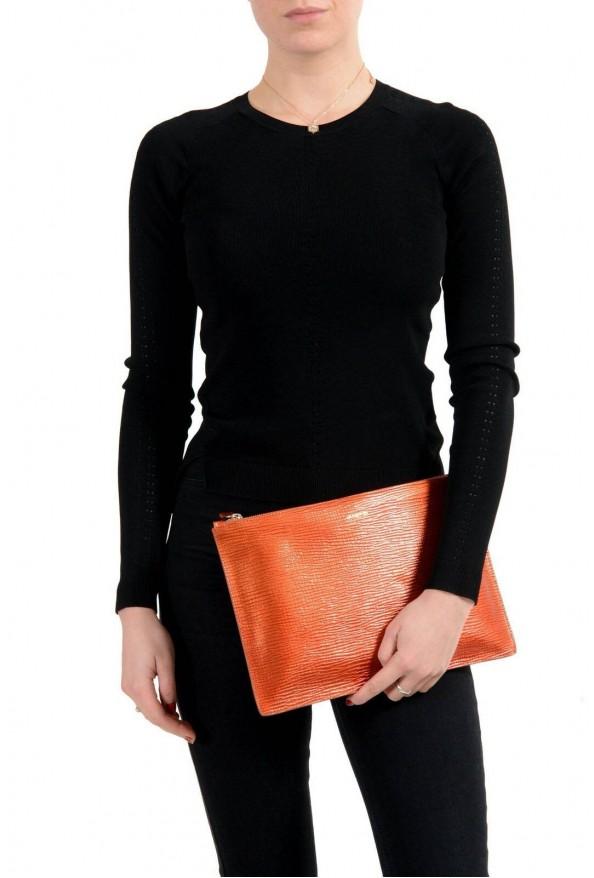 Jil Sander 100% Leather Gold Women's Clutch Bag: Picture 3