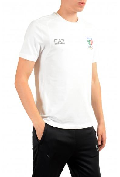"""Emporio Armani EA7 """"Italia Team"""" Men's White Stretch Crewneck T-Shirt: Picture 2"""