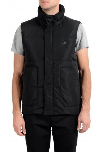 Roberto Cavalli Men's Duck Down Black Full Zip Vest