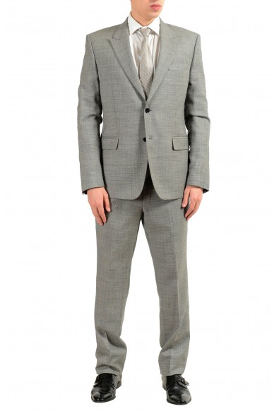 Versace Collection Men's 100% Wool Gray Two Button Suit