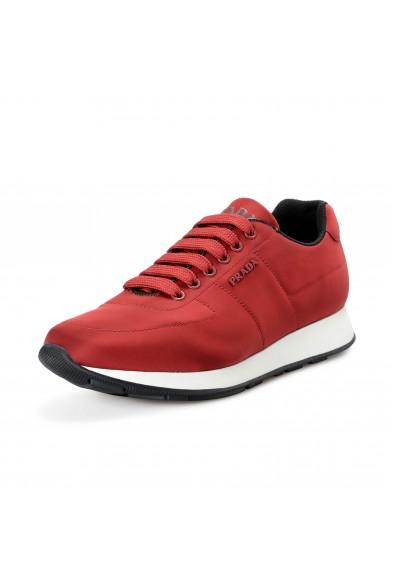 Prada Men's 4E3355 Red Nylon Fashion Sneakers Shoes