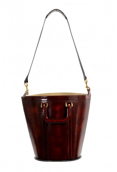 Marni Women's Multi-Color Textured Leather Bucket Shoulder Bag Handbag