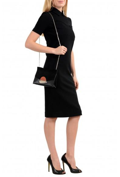 Proenza Schouler Women's Black Suede Leather Clutch Shoulder Bag: Picture 2