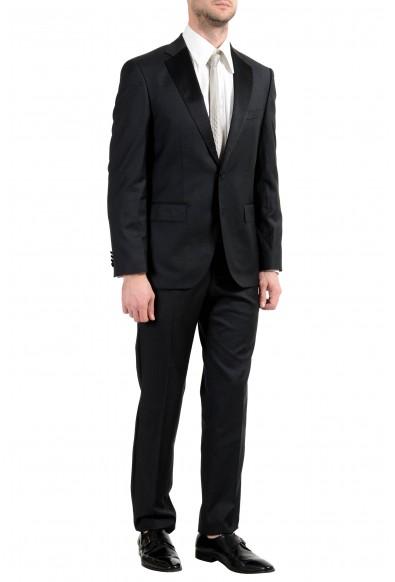 "Hugo Boss ""Jelvan/Livan"" Men's Silk Wool Black Two Button Suit: Picture 2"