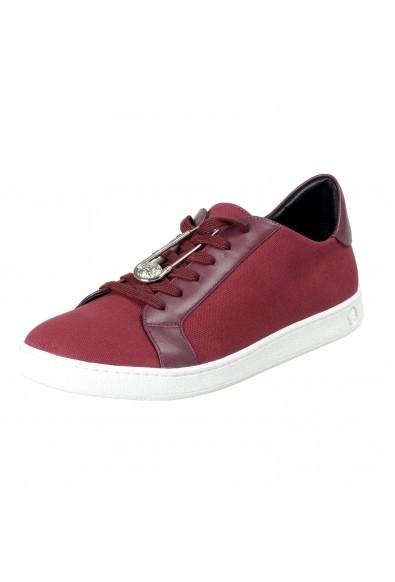 Versace Versus Men's Purple Canvas Leather Fashion Sneakers Shoes