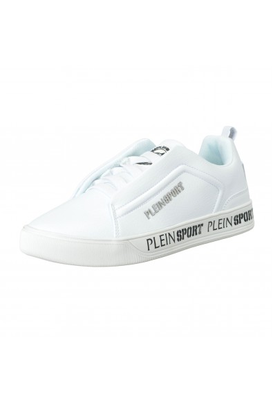 """Plein Sport """"John"""" White Slip On Fashion Sneakers Shoes"""