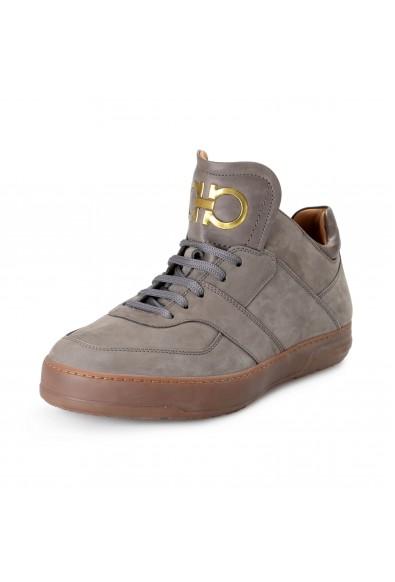 "Salvatore Ferragamo Men's ""MONROE"" Gray Nubuck Leather Fashion Sneakers Shoes"