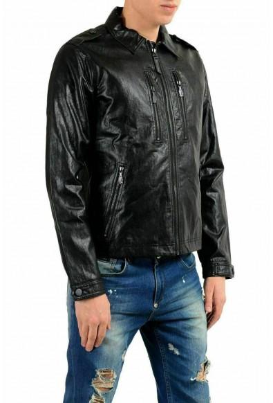 Versace Jeans Men's Black Faux Leather Full Zip Jacket: Picture 2