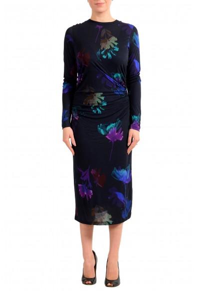 """Hugo Boss Women's """"Esetta"""" Multi-Color Stretch Midi Dress"""