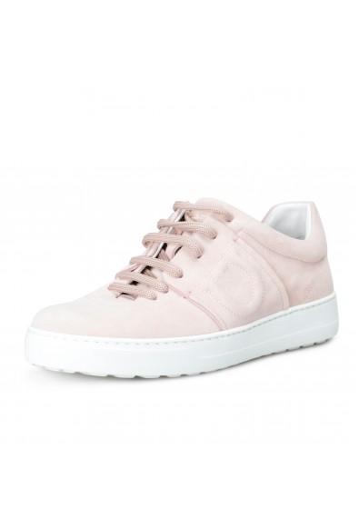"Salvatore Ferragamo Women's ""FASANO"" Pink Suede Leather Fashion Sneakers Shoes"