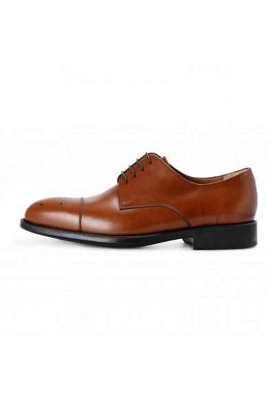 "Salvatore Ferragamo ""Aramix 1"" Men's Almond Brown Leather Lace Up Oxfords Shoes: Picture 2"