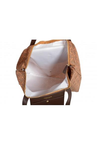 Roberto Cavalli Women's Brown Leather Trimmed Shoulder Handbag Tote Bag: Picture 2