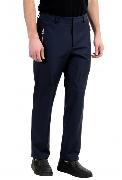 Versace Collection Men's Navy Blue Stretch Casual Pants: Picture 2