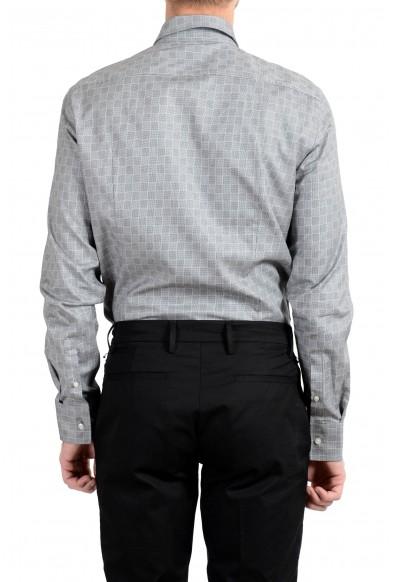 "Hugo Boss ""Jason"" Men's Slim Plaid Gray Long Sleeve Dress Shirt : Picture 2"