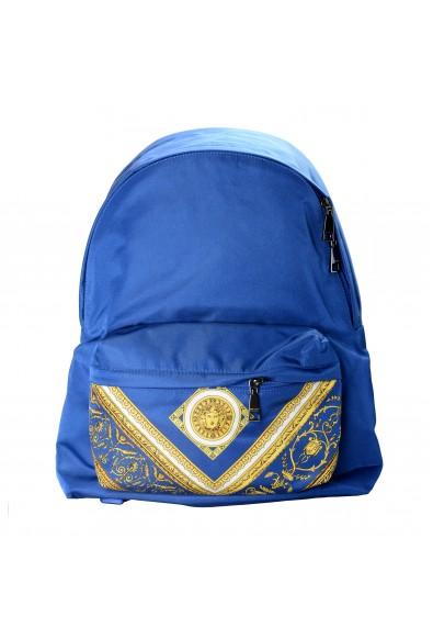 Versace Unisex Blue Barocco Print DFZ5350S Backpack