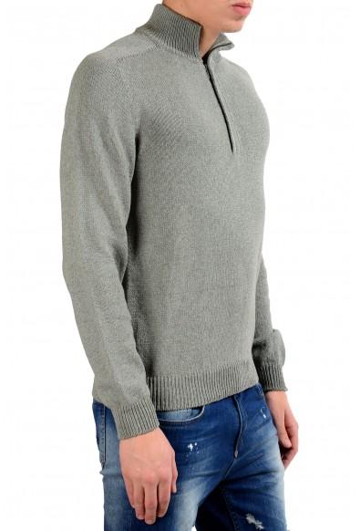 Malo Men's Cashmere Silk Gray 1/2 Zip Sweater: Picture 2