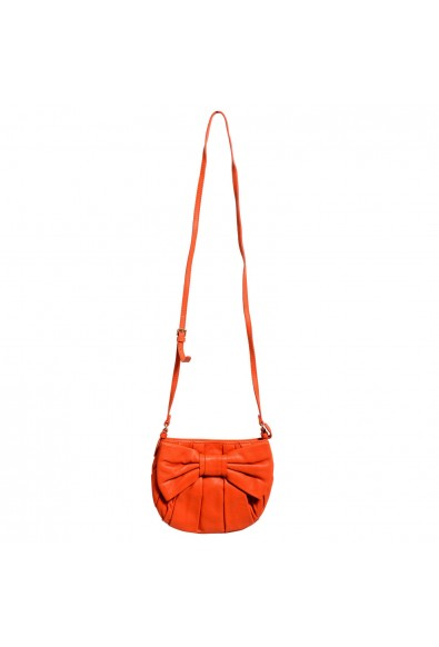Red Valentino Women's Orange 100% Leather Bow Decorated Shoulder Bag