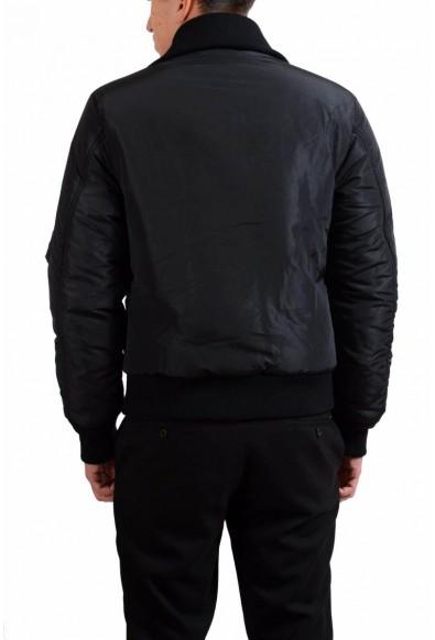 Dolce & Gabbana Men's Black Full Zip Insulated Bomber Jacket: Picture 2