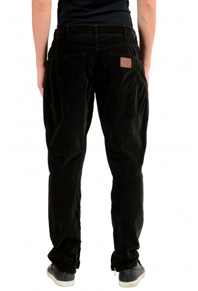 Dolce & Gabbana Men's Brown Velour Casual Pants: Picture 2
