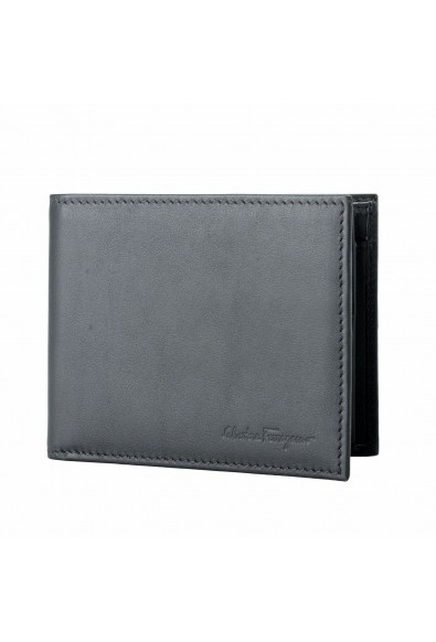 Salvatore Ferragamo 100% Leather Gray Men's Bifold Wallet