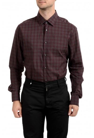 "Hugo Boss Men's ""T-Scott"" Slim Fit Plaid Long Sleeve Dress Shirt : Picture 2"