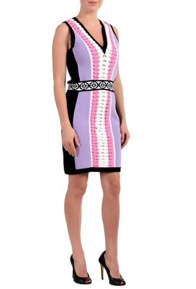 Versace Women's Sleeveless Stretch Sheath Knitted Dress : Picture 2