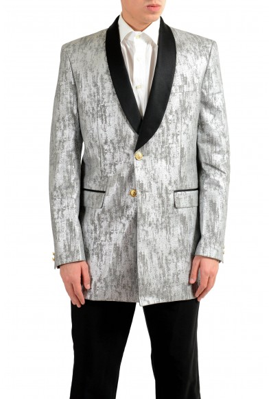 Versace Versus Men's Silver Tuxedo Two Button Blazer Sport Coat