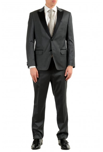 "Hugo Boss ""Hanford/Golden"" Men's Gray Wool Tuxedo Two Button Suit"