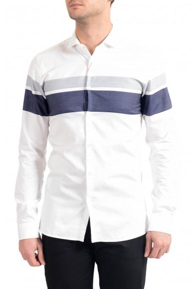 "Hugo Boss Men's ""Erondo"" Striped Extra Slim Fit Long Sleeve Dress Shirt"