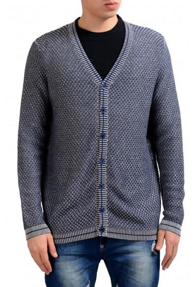 Malo Men's Linen Silk Cardigan Sweater