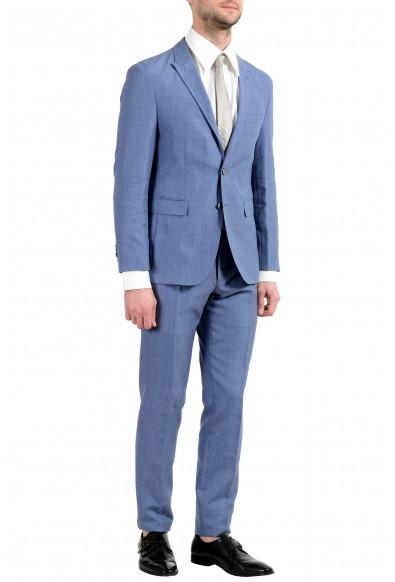 "Hugo Boss ""T-Nebil/Bent"" Men's Silk Wool Linen Blue Two Button Suit: Picture 2"