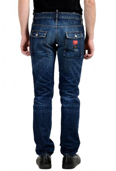 "Dsquared2 Men's ""Slim Jean"" Blue Distressed Jeans: Picture 2"