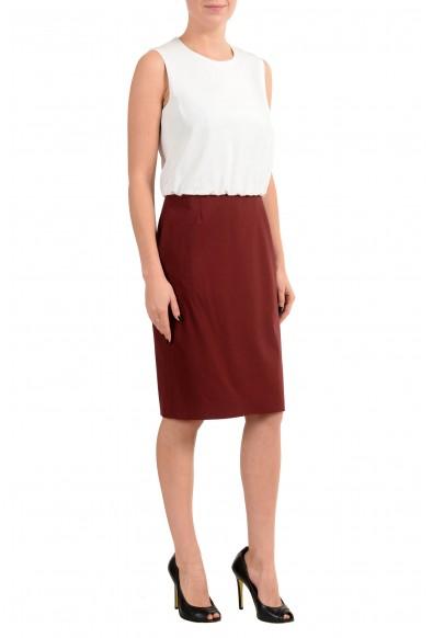 "Hugo Boss ""Domona"" Women's Wool Two Tones Sleeveless Sheath Dress: Picture 2"